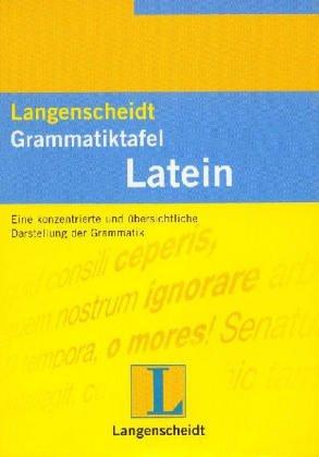 9783468362002: Langenscheidts Grammatiktafel Latein