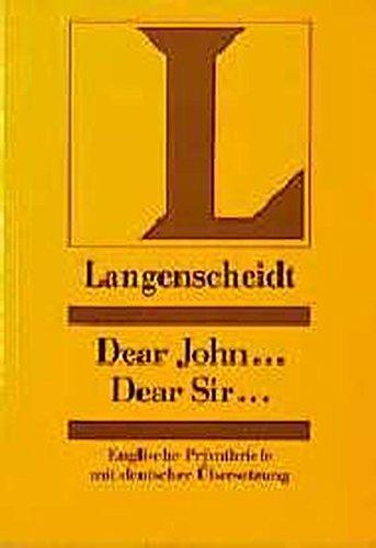 9783468419218: Dear John, Dear Sir (German Edition)