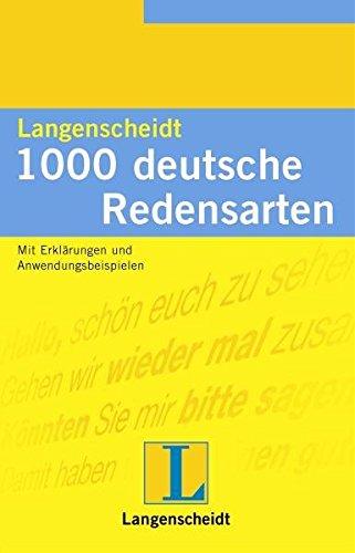 9783468431135: 1000 Deutsche Redensarten (German Edition)