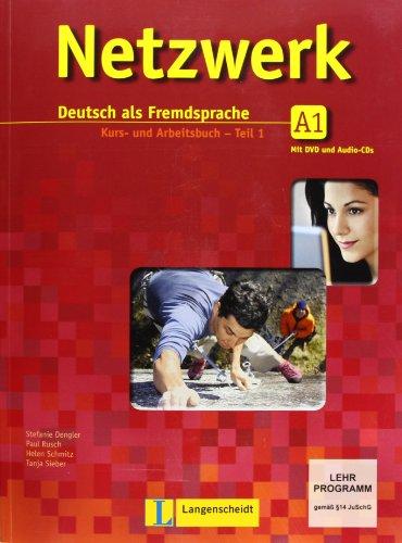 9783468468025: Netzwerk in Teilbanden: Kurs- Und Arbeitsbuch A1 - Teil 1 MIT 2 Audio-Cds Und DVD (German Edition)