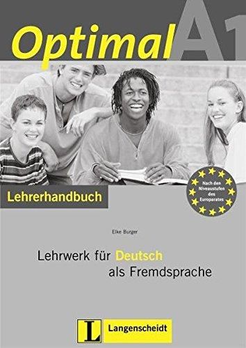 9783468470035: Optimal: Lehrerhandbuch A1 MIT CD-Rom (German Edition)