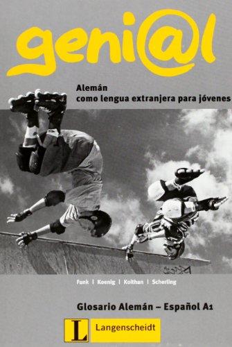 9783468475634: genial, Deutsch als Fremdsprache für Jugendliche, Lernglossar Spanisch