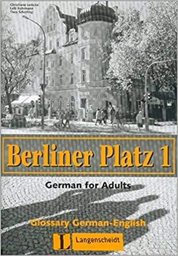 9783468478383: Berliner Platz: Glossar Deutsch-Englisch 1 (German Edition)