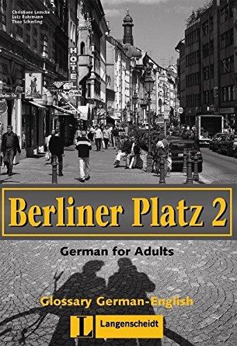 Berliner Platz 2. Glossar deutsch - englisch:
