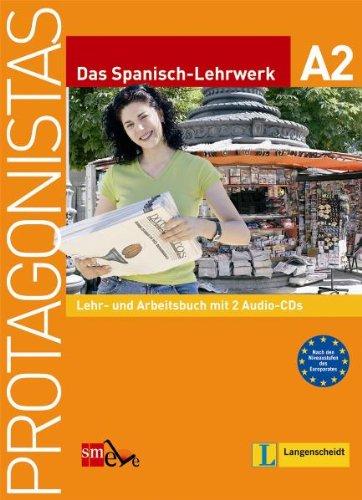 9783468485268: Protagonistas A2 - Lehr- und Arbeitsbuch mit 2 Audio-CDs