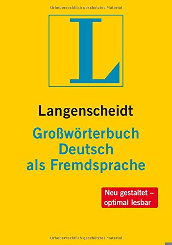 9783468490385: Langenscheidts Grossworterbuch Deutsch Als Fremdsprache: Langenscheidts Grossworterbuch Deutsch Als Fremdsprache Inklusive CD-Rom