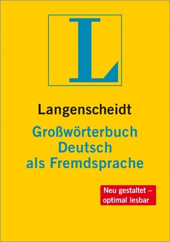 Langenscheidts Grossworterbuch Deutsch Als Fremdsprache (German Edition)