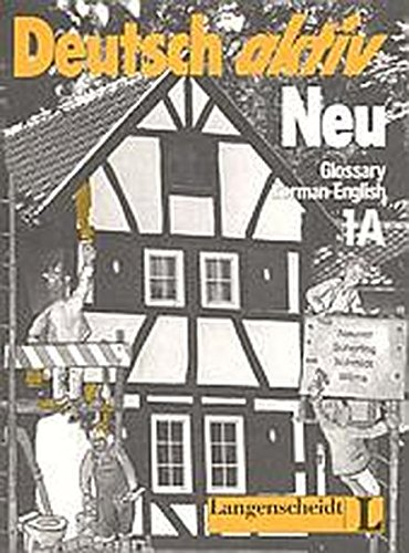 9783468491030: Deutsch Aktiv Neu: Glossar Deutsch-Englisch 1a