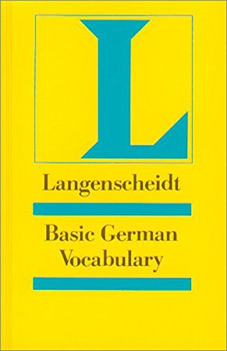9783468494000: Langenscheidt Basic German Vocabulary. Für Englisch sprechende Lernende: A Learners Dictionary divided into subject categories with example sentences (Langenscheidt Reference)