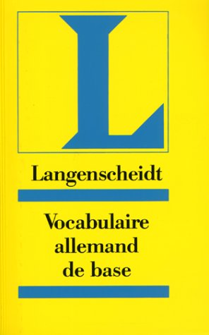 9783468494024: Langenscheidt Vocabulaire allemand de base. Für Französisch sprechende Lernende.