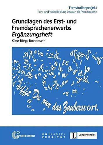 9783468496172: Fernstud 15 Grundlagen des Erst-und Fremdsprachenerwerbs cuaderno (Cursos a distancia)