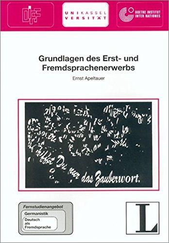 9783468496585: Grundlagen DES Erst- Und Fremdsprachenerwerbs (German Edition)