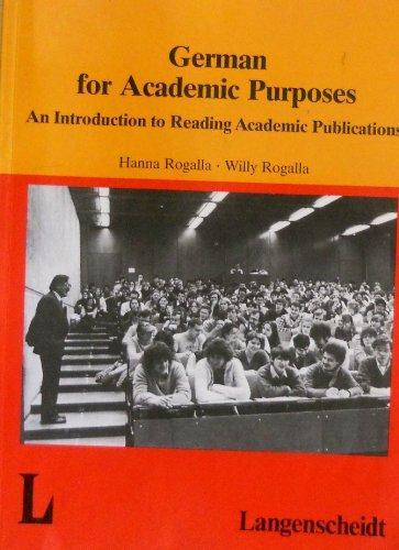 9783468498800: German for Academic Purposes