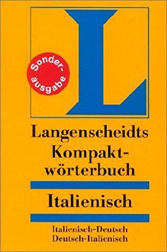 Langenscheidts Kompaktwörterbuch Italienisch. Italienisch-deutsch, deutsch-italienisch.