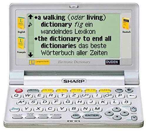 9783468909740: Sharp PW-E420 - Handheld: Elektronisches Wörterbuch mit drei Wörterbüchern: Langenscheidt Taschenwörterbuch Englisch und Französisch. Duden Deutsche Rechtschreibung