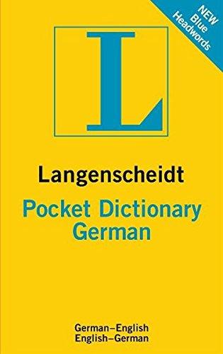 9783468981357: German Pocket Langenscheidt Dictionary (Langenscheidt Pocket Dictionary)