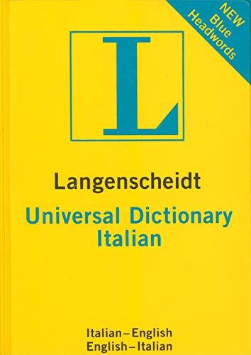 9783468981807: Langenscheidt Universal Dictionary Italian: Italienisch - Englisch / Englisch - Italienisch