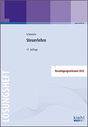 9783470595177: Steuerlehre - Lösungsheft
