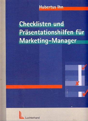 9783472015093: Checklisten und Präsentationshilfen für Marketing-Manager