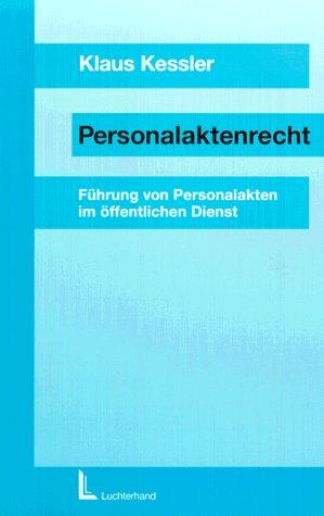 9783472020943: Personalaktenrecht