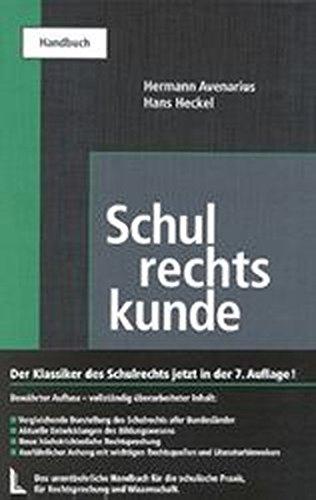 9783472021759: Schulrechtskunde: Ein Handbuch für Praxis, Rechtsprechung und Wissenschaft (German Edition)