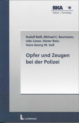 9783472046059: Opfer und Zeugen bei der Polizei.