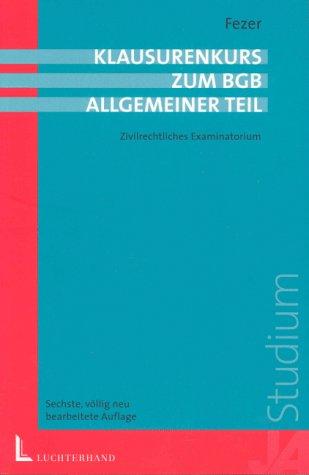9783472056393: BGB Allgemeiner Teil. Examinatorium