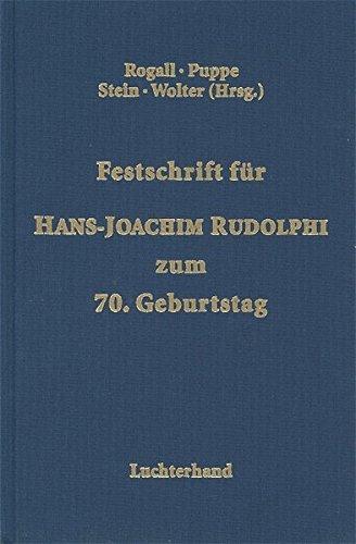 9783472059561: Festschrift für Hans-Joachim Rudolphi zum 70. Geburtstag