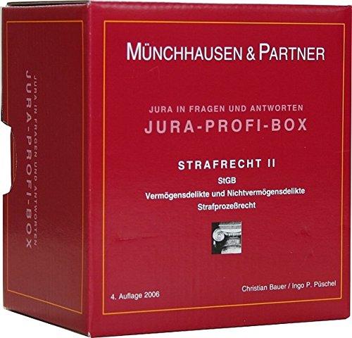 9783472063513: Jura-Profi-Box. Strafrecht 2: StGB. Vermögensdelikte und Nichtvermögensdelikte. Strafprozeßrecht