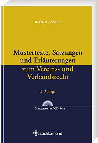 9783472071693: Mustertexte, Satzungen und Erl+â-ñuterungen zum Ve