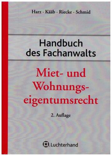 9783472072324: Handbuch des Fachanwalts Miet- und Wohnungseigentumsrecht