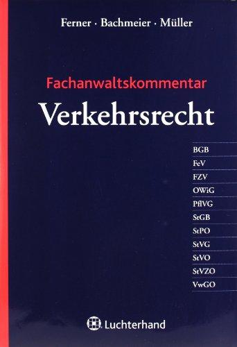 9783472072348: Fachanwaltskommentar Verkehrsrecht