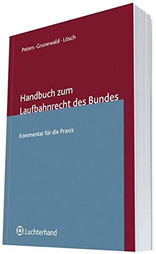 9783472075868: Handbuch zum Laufbahnrecht des Bundes