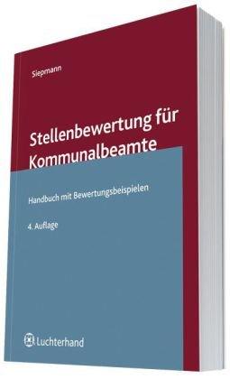 9783472078555: Stellenbewertung für Kommunalbeamte: Handbuch mit Bewertungsbeispielen