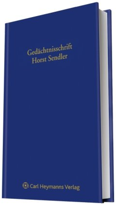 Gedächtnisschrift für Horst Sendler: Marion Eckertz-Höfer