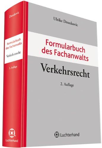 9783472083689: Formularbuch des Fachanwalts Verkehrsrecht