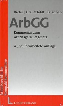 9783472111436: Arbeitsgerichtsgesetz (ArbGG). Textausgabe mit Kurzerläuterungen für die Praxis