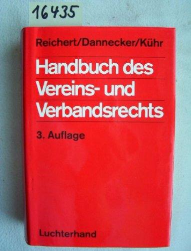 9783472410317: Handbuch des Vereins- und Verbandsrechts (German Edition)