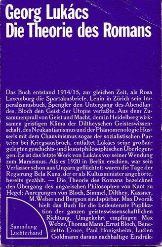 9783472610366: Die Theorie des Romans. Ein geschichtsphilosophischer Versuch über die Formen der grossen Epik. (Livre en allemand)