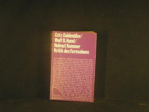 9783472611110: Kritik des Fernsehens. Handbuch gegen Manipulation