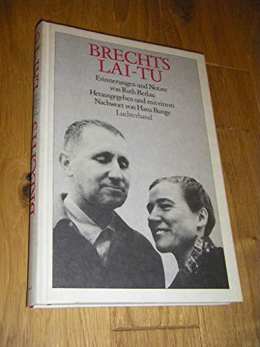 9783472866015: Brechts Lai-Tu: Erinnerungen und Notate