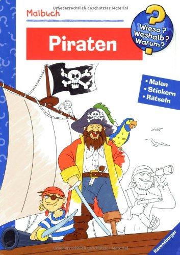 9783473327508: Malbuch Piraten: Malen, Stickern, Rätseln