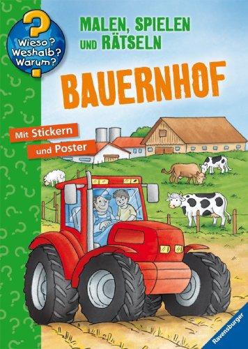 9783473328291: Bauernhof: Malen, Spielen und Rätseln
