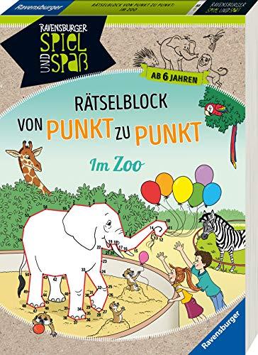 Rätselblock von Punkt zu Punkt: Im Zoo (Ravensburger Spiel und Spaß) - Siegmund-Stiefenhofer, Sybille und Andrea Dölling