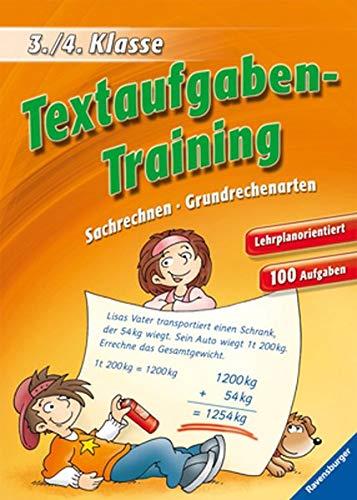 9783473419494: Textaufgaben-Training (3./4. Klasse): Sachrechnen, Grundrechenarten