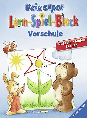 9783473419722: Dein super Lern-Spiel-Block Vorschule: R�tseln, Malen, Lernen