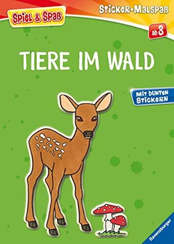 9783473557066: Mein Ravensburger Sticker-Malspaß. Tiere im Wald