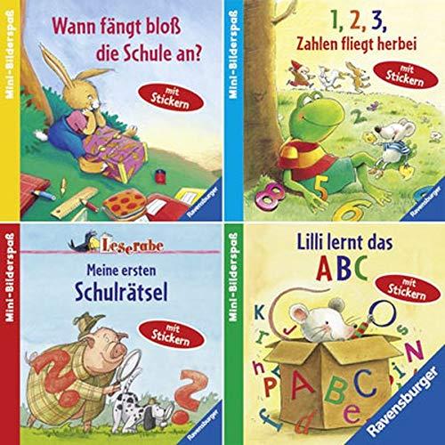 9783473680078: Ravensburger Mini-Bilderspaß 66 - Hurra, ich komme in die Schule (4er-Set)