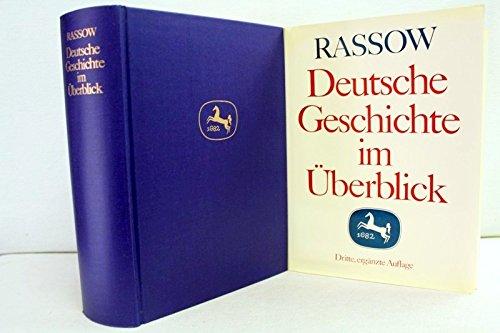 9783476002587: Deutsche Geschichte. Im Überblick. Ein Handbuch.