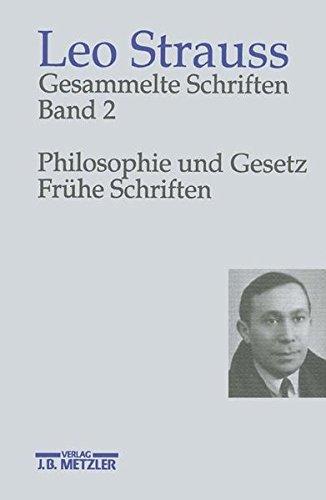 9783476012128: Gesammelte Schriften, 6 Bde., Bd.2, Philosophie und Gesetz, Frühe Schriften
